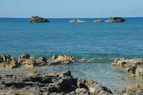Багамы. Полдень. Коралловые рифы.