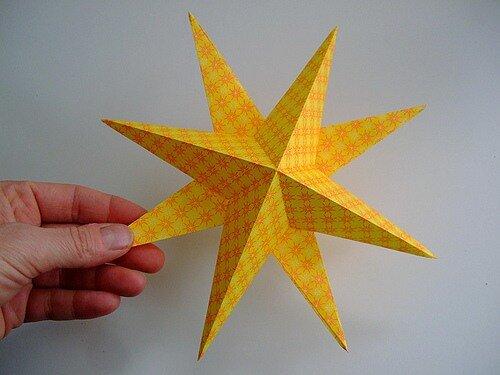 мк бумажная объемная звезда