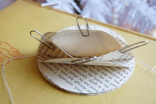 Елочный шар из бумаги ( газеты) 0_4f224_aa64850d_L