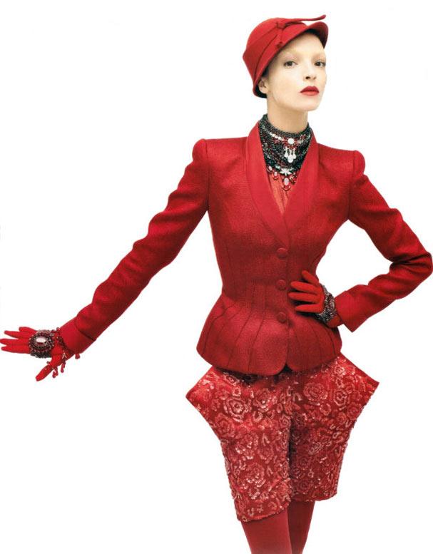 Красная шапочка Мариякарла Босконо / Mariacarla Boscono by Steven Meisel