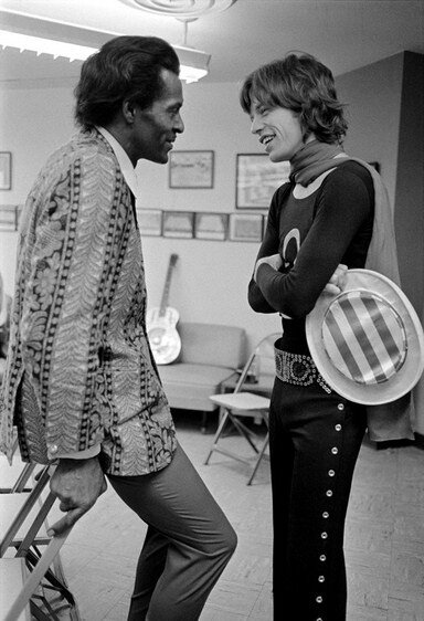 Chuck Berry and Mick Jagger