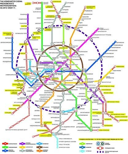 Московское метро 2020 года