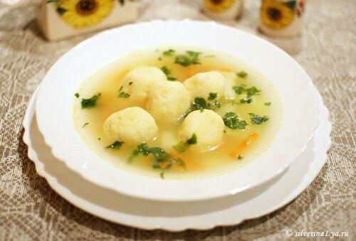 Суп с сырными клецками рецепт