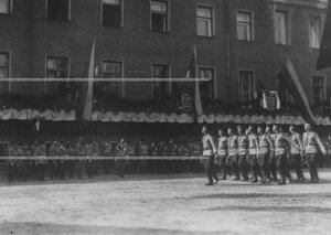 Музыканты-ветераны на параде в день празднования 100-летия  Кульмского боя.