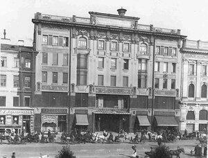 Внешний вид здания Петербургской конторы Московского купеческого банка (Невский пр., д.46).