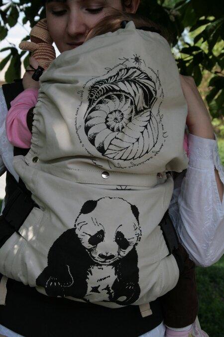 Эргономичный рюкзак принт Панда