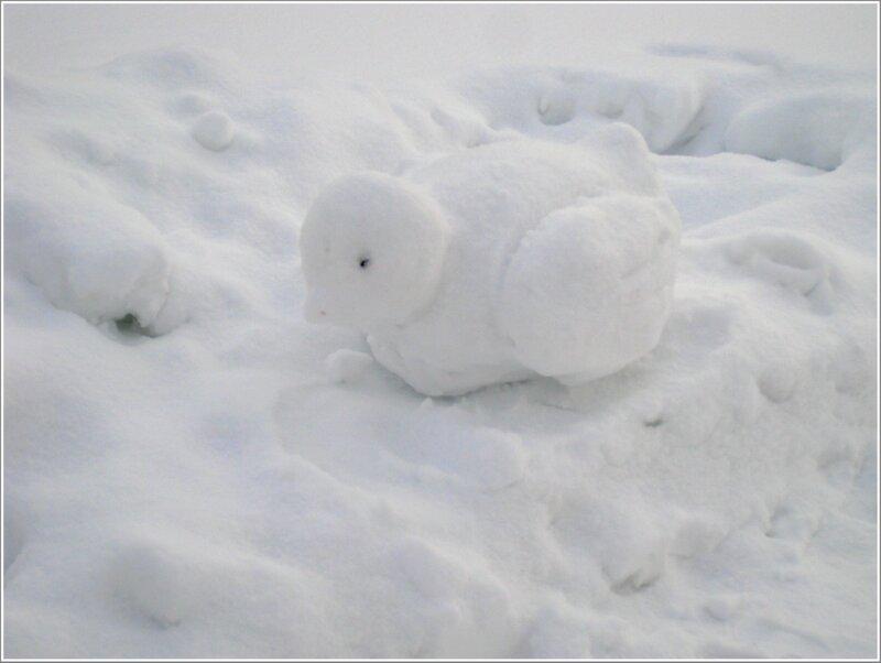 Уточка-снеговик
