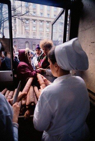 Soviet Shoppers on Food Line