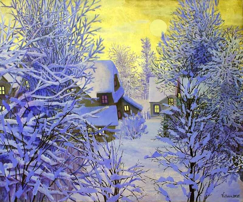 Художник бродский картина зимнее утро