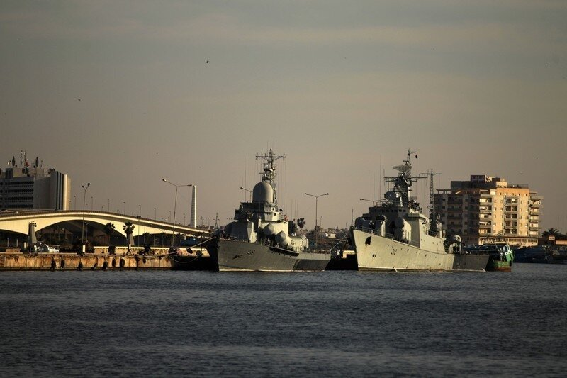 Abandonned Libyan navy gunships sit in B