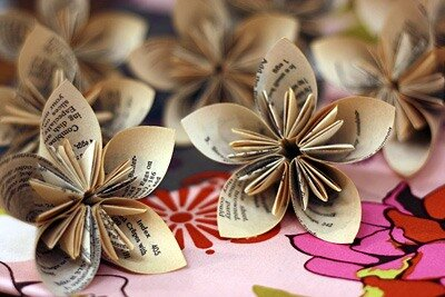 making kusudama-flower
