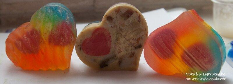сердце, день святого Валентина, любовь, 14 февраля, радужное мыло