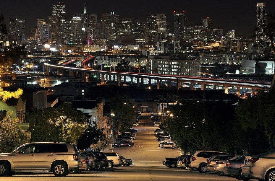 Ночной Сан-Франциско и окрестности, а также, частично, другие места Америки ночью в фотографиях Мэтью Грэнца...