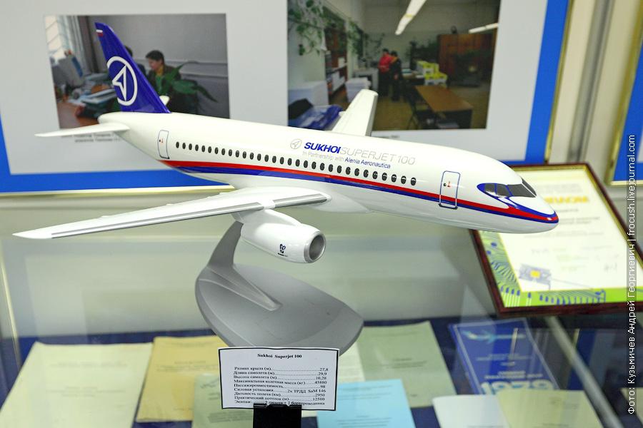 Модель Sukhoi Superjet 100 в музее МГТУ ГА