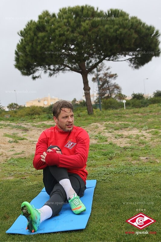 Первая тренировка Патрика Эберта в «Спартаке» (Фото)
