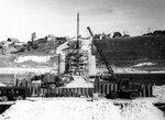 16. 5 сентября 1961 года. Вид на котлован опоры № 2 с левого берега..jpg