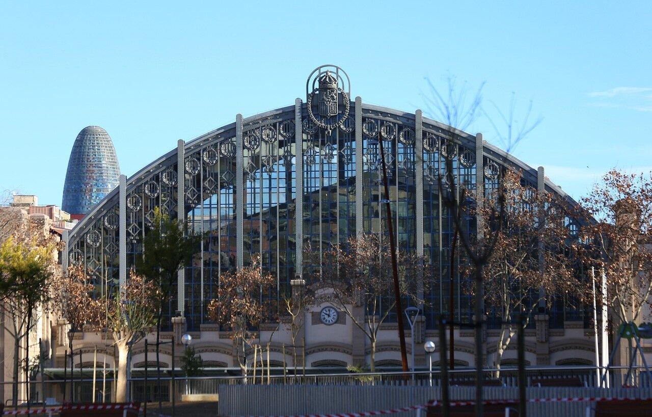 Барселона. Северный вокзал. панорама. Estació del Nord, Barcelona