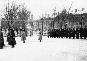 Парад полка в сквере у полковой церкви Введения во храм Пресвятой Богородицы на Загородном проспекте.