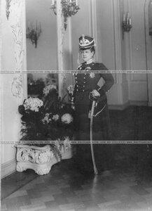 Шеф лейб – гвардии Драгунского полка великая княгиня Мария Павловна в драгунской форме.