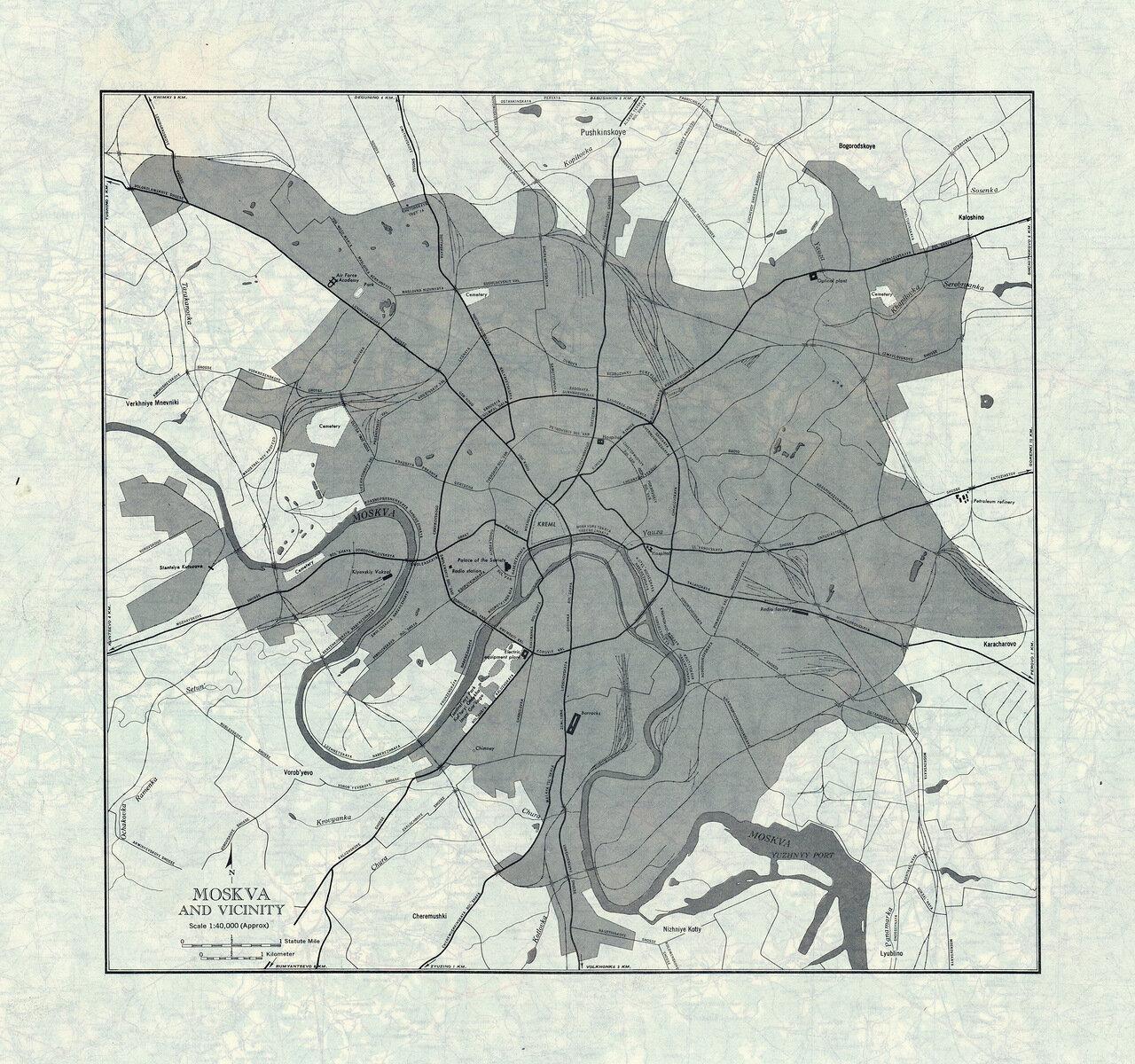 Москва и окрестности