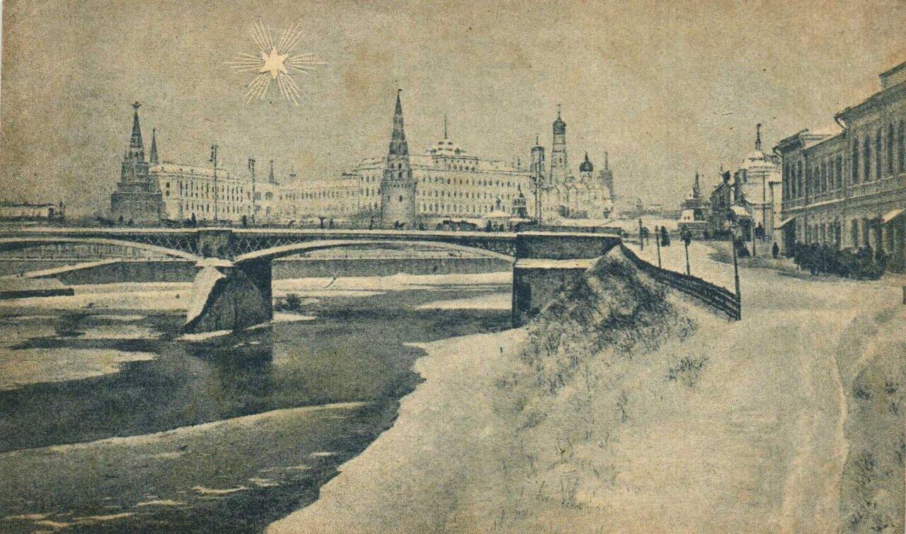 Кремль. Рождественский вид на Кремль