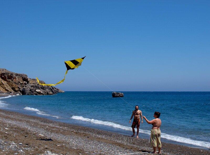 Гортина и Плэнер на пляже