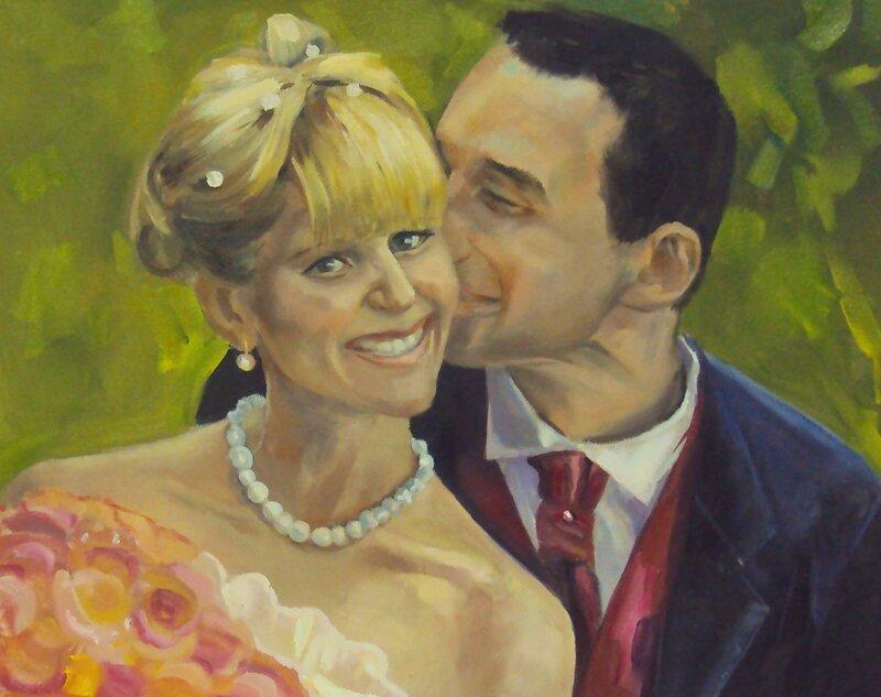 Свадьба . Чудесные портреты художницы luboff00