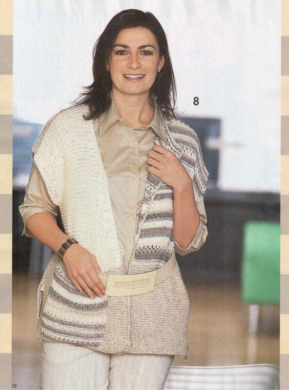 Жилет вязание для женщин полных женщин 92