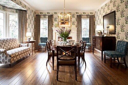 Гостиная - смесь традиционного и современного стилей