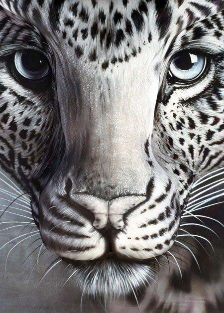 бодиарт леопард