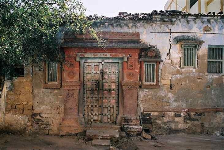 Bhuj.  Throughout India, doorways have a particularly strong symbolic and artistic importance