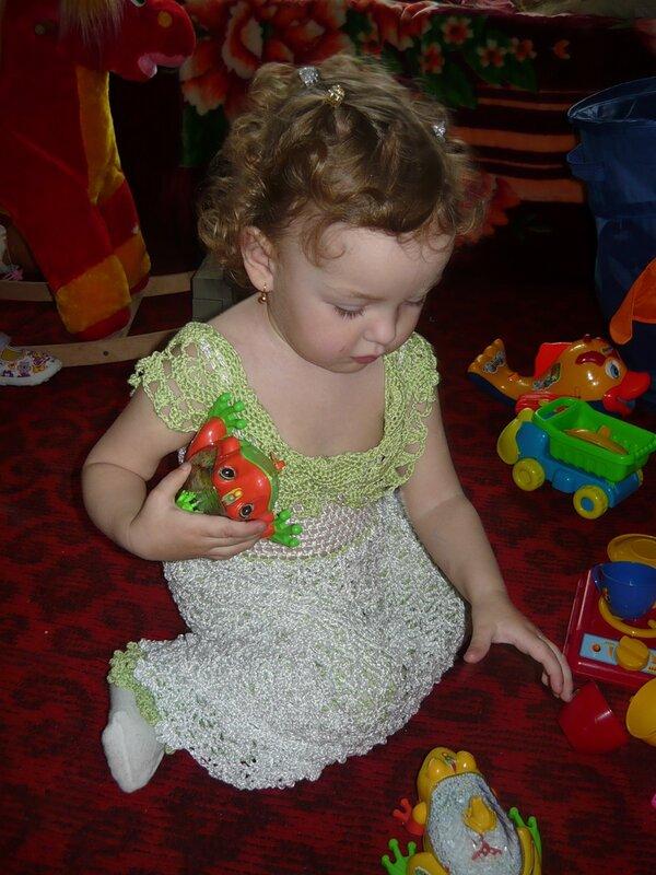 """Увидела в интернете платье  """"Красавица Саванна """" и потеряла покой.  Очень захотелось связать своей куколке такое, тем..."""