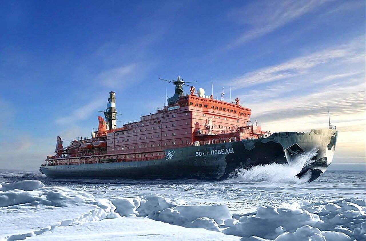 Обои 50 лет победы, россия, судно, атомный ледокол, 10521, Атомфлот. Разное foto 7