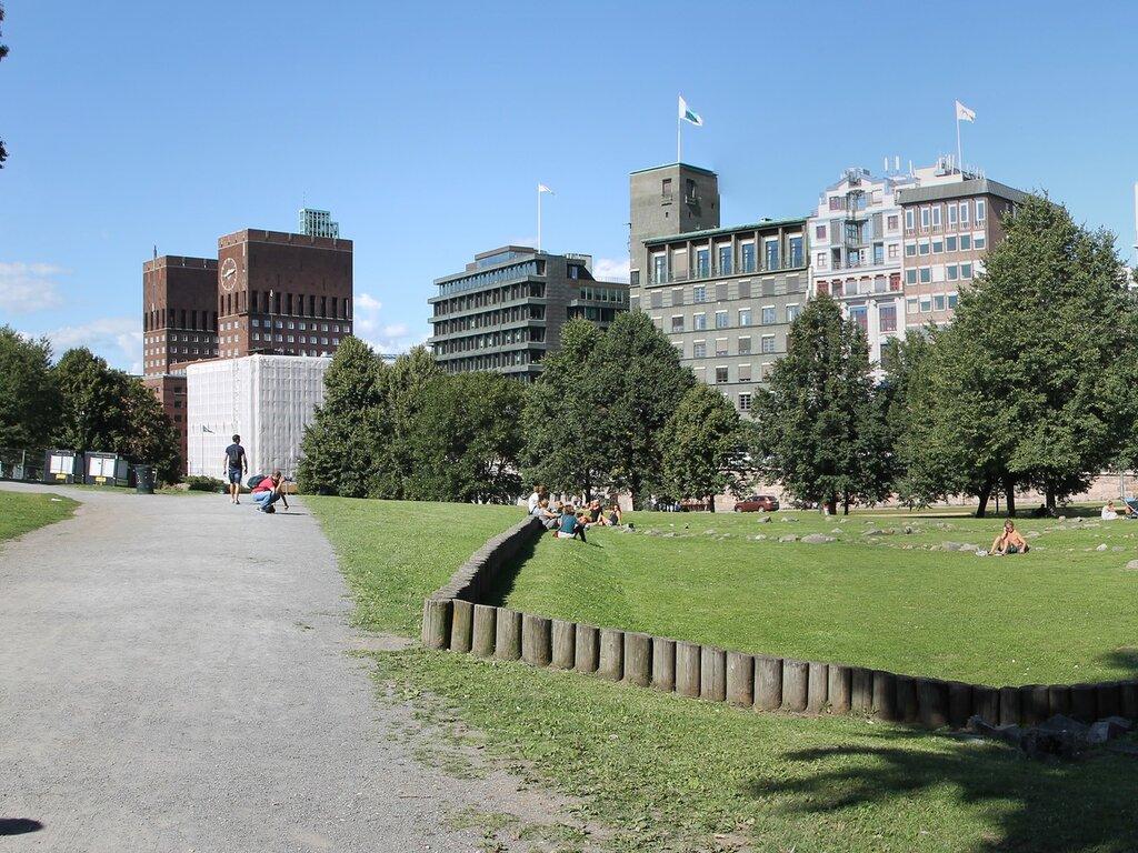 Осло. Парк Контрэскарет. Oslo Kontraskjæret park