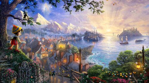 Сказочный мир картин художника Томаса Кинкаде (thomas kinkade)