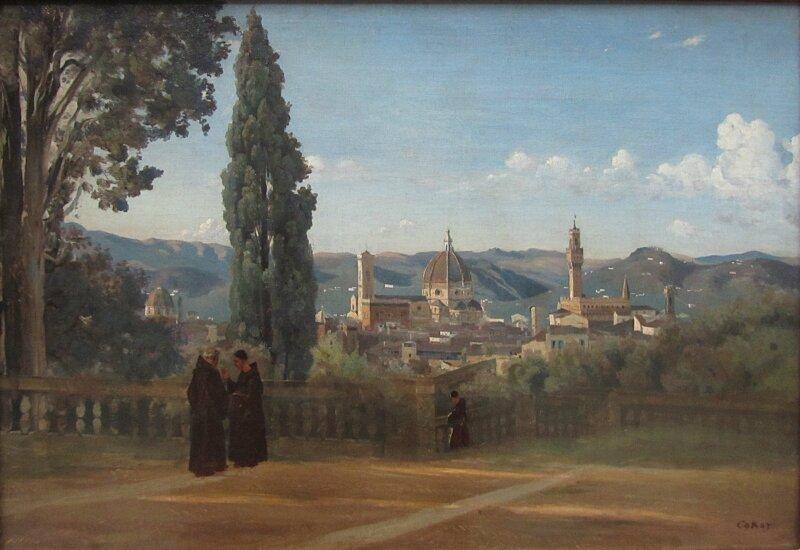 К.Коро. Флоренция. Вид из садов Боболи
