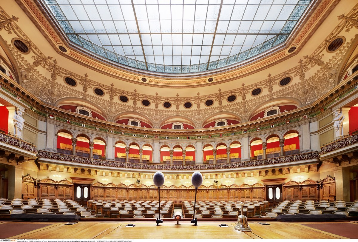 Зал Национального совета в Берне (Швейцария).