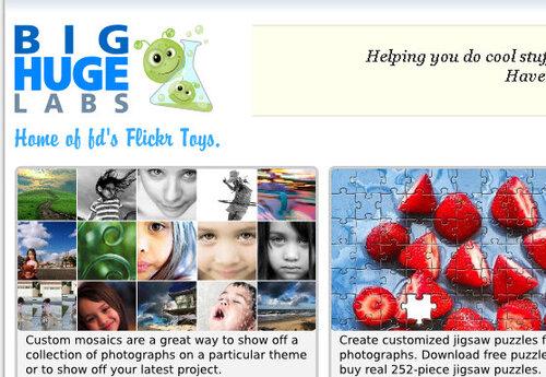 BigHugeLabs - сервис обработки фотографий