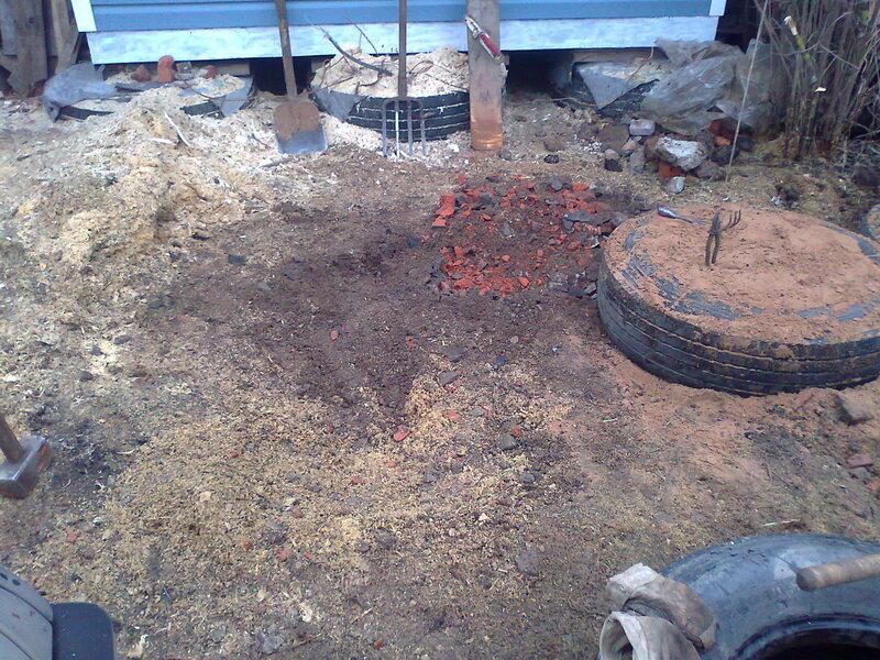 Фундамент из покрышек для гаража своими руками 5