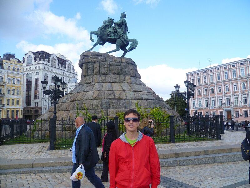 Украина, Киев - памятник Богдану Хмельницкому (Ukraine, Kiev - a monument to Bogdan Khmelnitsky)