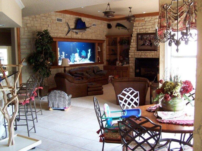 идеи для дома ,аквариумы в интерьере