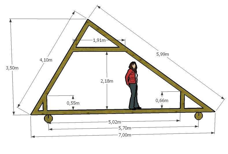 Односкатная с двускатной крышей схемы