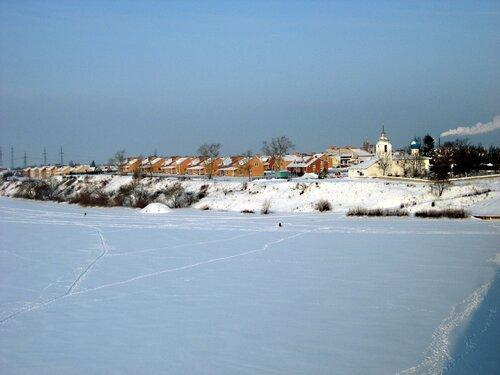 Река Великая зимой