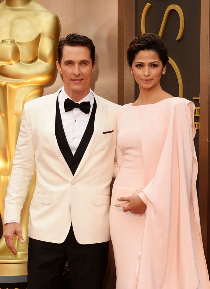 Matthew McConaughey and Camila Alves attend the Oscars held at Hollywood.