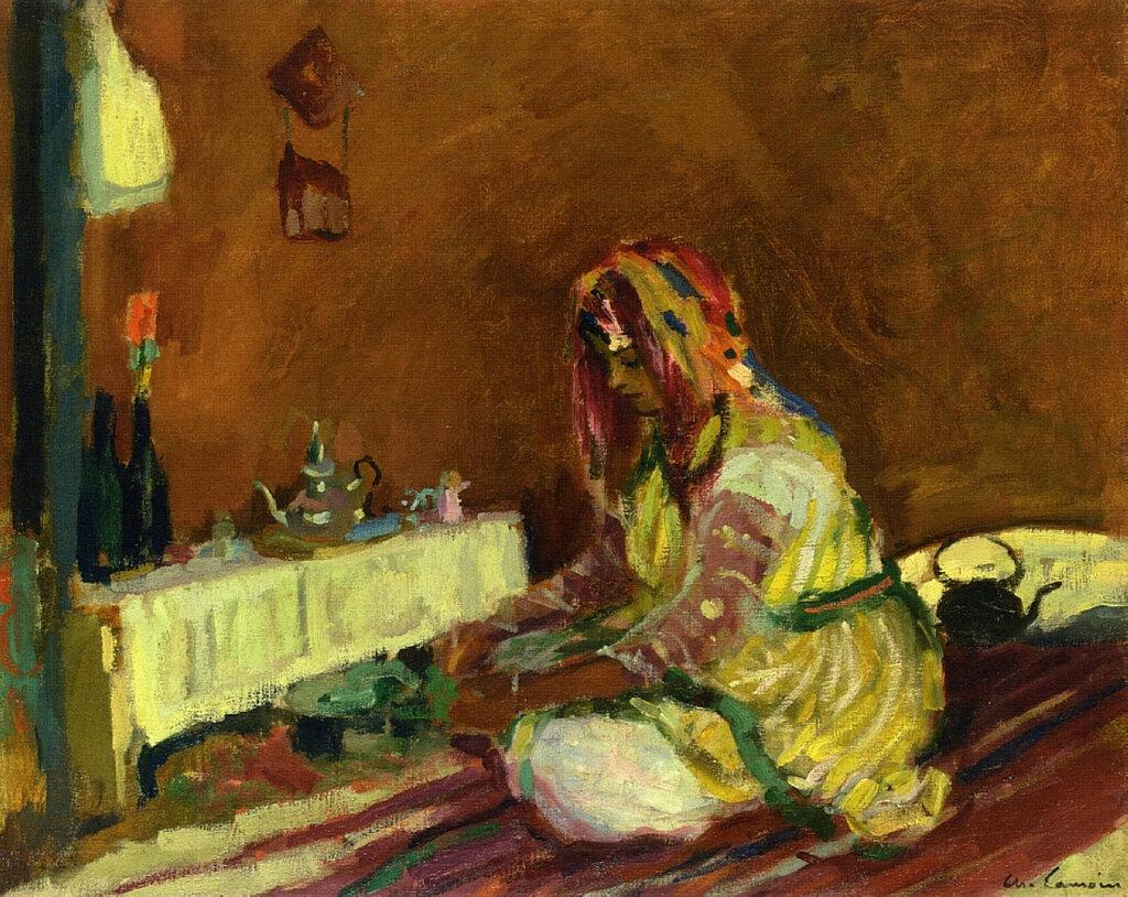 Charles Camoin - Morrican Girl Serving Tea, 1913.jpeg