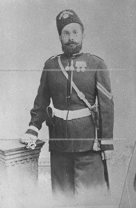 Портрет вахмистра  Лейб-гвардии казачего полка Тулаева.
