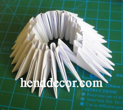 Оригами подсвечник из