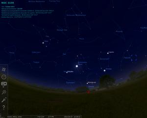 Stellarium with zodiacs