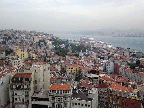 Стамбул - вид с Галатской башни (Istanbul - View from the Galata Tower).