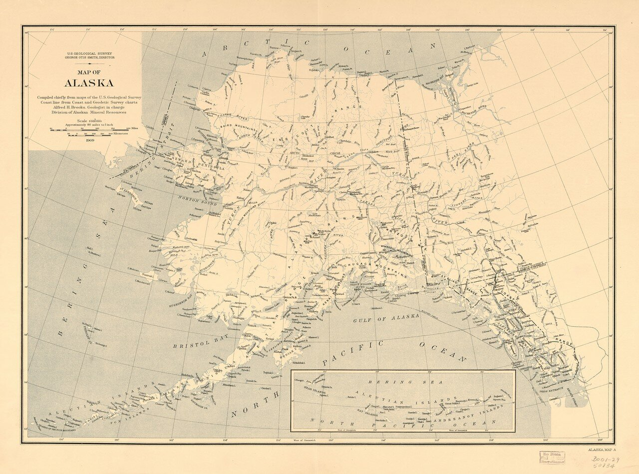 1909. Карта Аляски